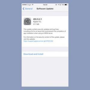 Apple випустила ios 9.2.1 і os x 10.11.3