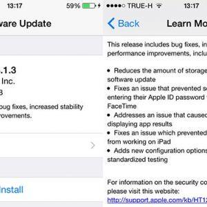 Apple випустила оновлення ios 8.1.3