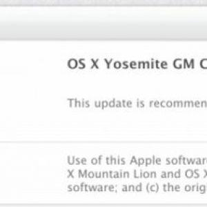 Apple випустила os x yosemite gm candidate 2.0 і os x yosemite beta 5