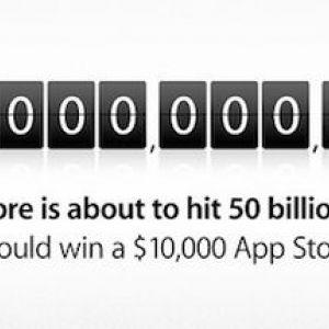 Кількість завантажень в app store досягло 50 млрд.